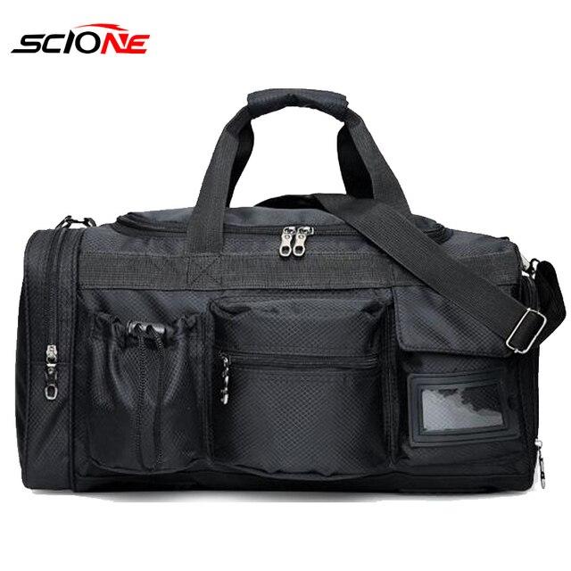 Scione Nylon Gym Sport Tas voor mannen Fitness Trainning Handtas met Schoen Compartiment Pocket bolsa de deporte para las mujeres