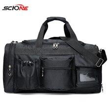 Scione ナイロンジムスポーツバッグメンズフィットネス Trainning ハンドバッグと靴のコンパートメントポケットボルサデ deporte パララスムヘーレス