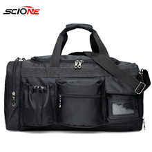Scione bolsa deportiva para gimnasio de nailon para hombre, bolso de gimnasia entrenamiento con compartimento para zapatos, bolsa de bolsillo para deporte para las mujeres