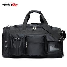Scione di Nylon Borsa Da Palestra Sport per Gli Uomini di Fitness Trainning Borsa con Compartimento per Scarpe Tasca bolsa de deporte para las mujeres