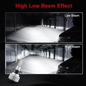 Image 5 - حجم صغير CSP lampada H7 H4 LED لمبة سيارة العلوي مصباح 12 فولت 24 فولت 12000LM 6000K الأبيض H1 H3 9005 HB3 9006 HB4 H8 H11 LED أضواء