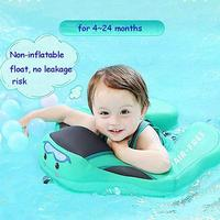 Baby Swimming Ring Solid No Inflatable Safety For Accessories Floating Swim Ring Float With Sunshade Board Suitable For Baby