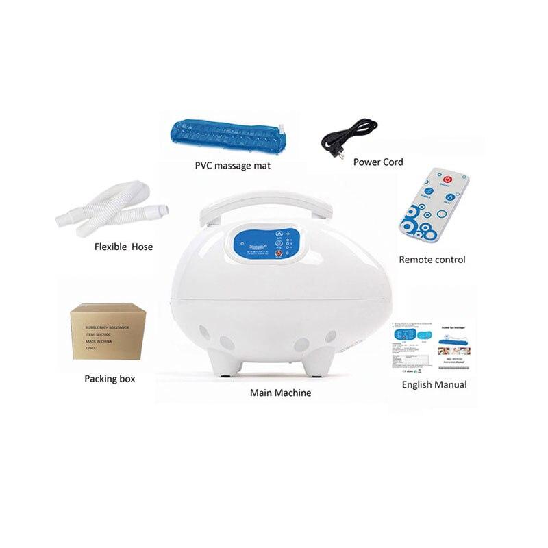Bolha de ar banho massageador esteira portátil spa relaxante banheira de ar esteira com ar quente poderoso 3 velocidade controle remoto-4