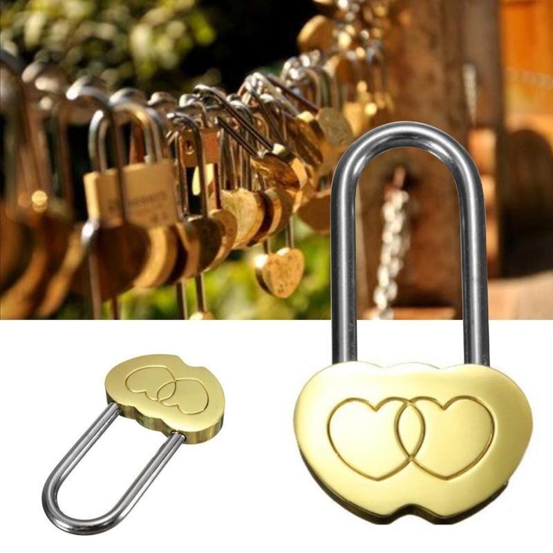 Candado de personalidad, Candado de bodas, aniversario, Cerradura de Puerta para joyeros, Candado Con Clave, 1 pieza