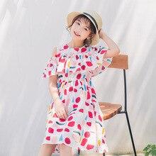цена на 100% Cotton Red Blue Yellow Dress For Girls 2020 Summer Girls Dress Off Shoulder Kids Clothes Children's Dress Spring Teen Girls