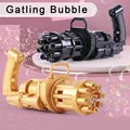 Bubble Gun Toys for Kids Automatic Bubble Gun Toy Summer 2-in-1 Bubble Machine For Children Gift Toys Party Wedding Bubble