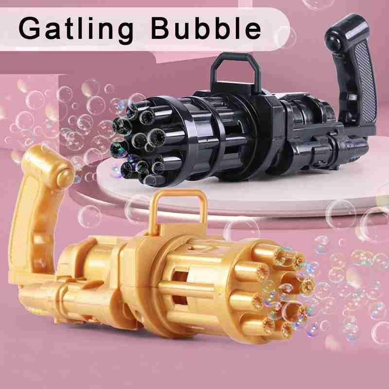 Bubble Gun Toys for Kids Automatic Bubble Gun Toy Summer Bubble Machine 2-in-1 Bubble Machine For Children Gift Toys Party Use