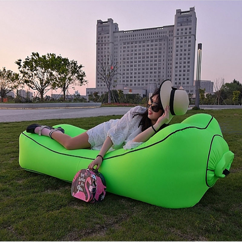 Fast Inflatable Air Sofa Bed Sleeping Chair Inflatable Couch Lazy Relaxing Beach Sofa Lay Bag 2019 Trend Outdoor Furniture 1