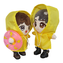 20cm doll raincoat plush stuffered doll umbrella doll waterproof