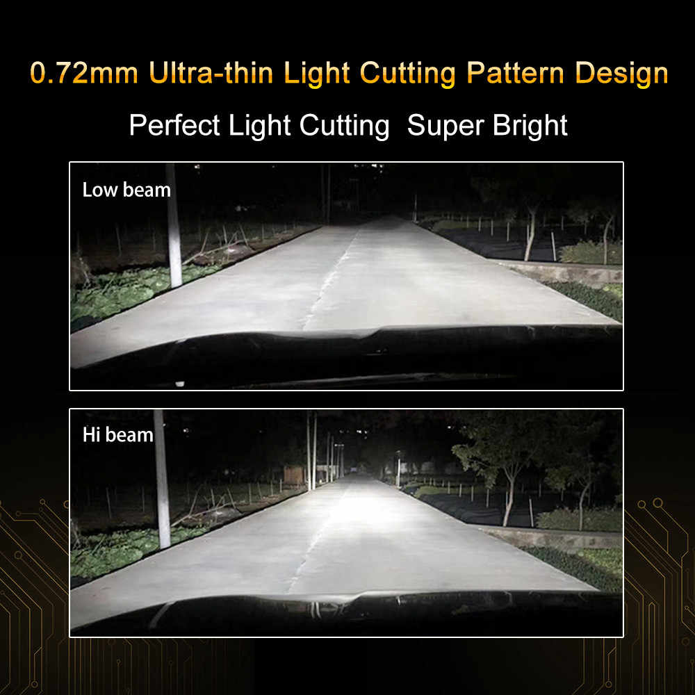 2Pcs Fighter H4 Led Bulbs Car/Motorcycle Headlight 70W 9000LM 12V 24V 6000K Auto H4 Car Light Fog bulbs Lamp
