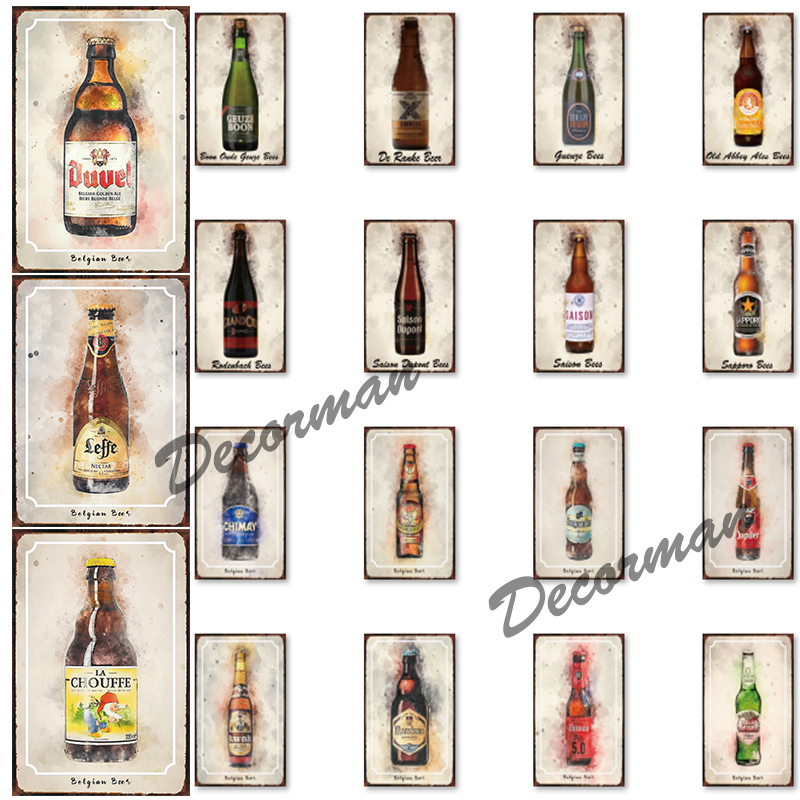 [ Mike86 ] Belgium Beer Metal Tin Sign Vintage Wall Posters Iron Painting Gift art decor for Pub LTA-1781 20*30 CM