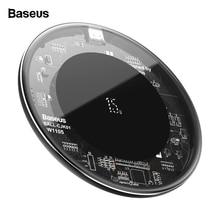 BASEUS 15W Qi Wireless Charger สำหรับ iPhone 11 Pro X XS MAX Fast ไร้สายไร้สายชาร์จ Pad สำหรับ samsung S20 Xiao Mi Mi 10