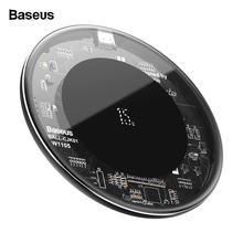 Baseus 15W Qi Wireless Charger For iPhone 11 Pro X Xs Max Glass Fast Wirless Wireless Charging Pad For Samsung S20 Xiaomi Mi 10
