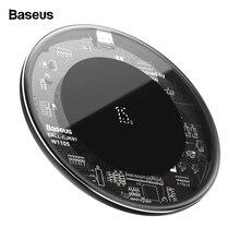 Baseus carregador sem fio qi 15w, carregador wireless de vidro para iphone 11, pro, x, xs, max, plataforma de carregamento rápido sem fio samsung s20 xiaomi mi 10