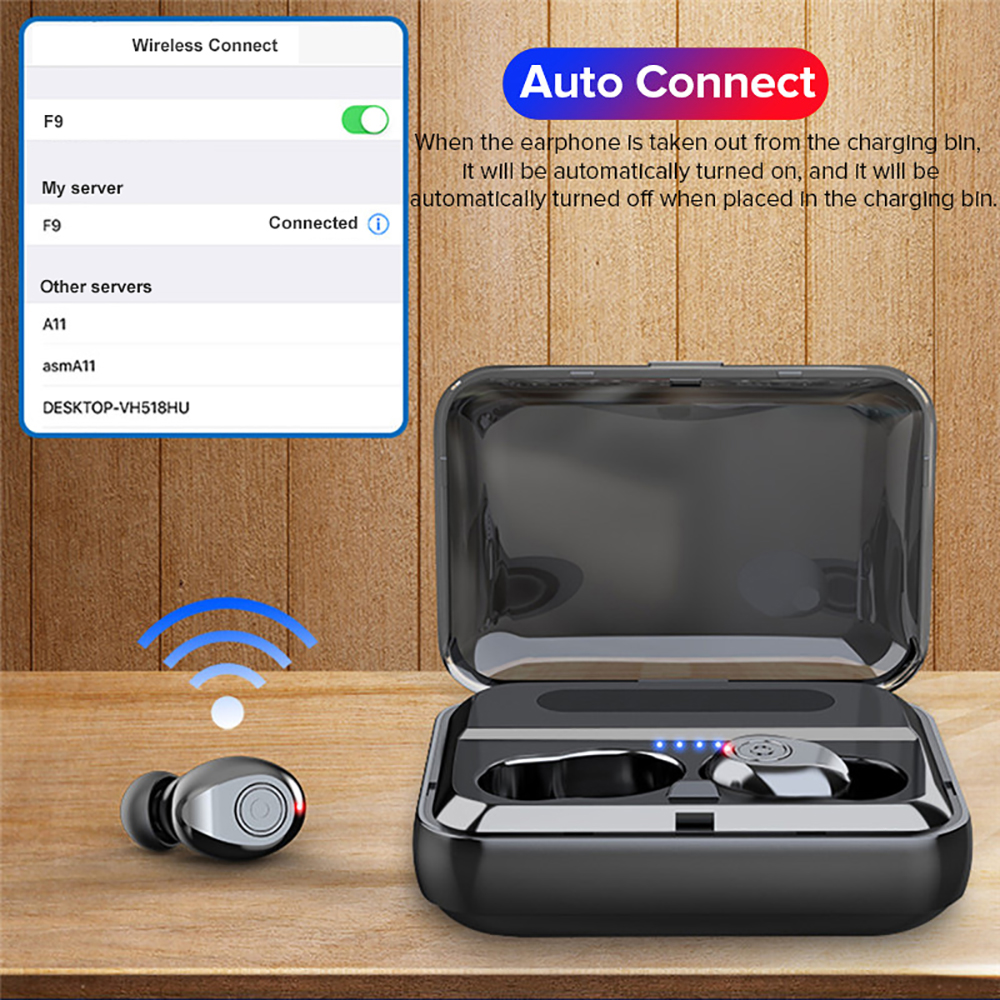 VTIN XT988 TWS Earphone Wireless Bluetooth 5.0 Earphones Stereo Earbuds Life Waterproof Earphones 5H Playtime For iPhone Huawei (1)