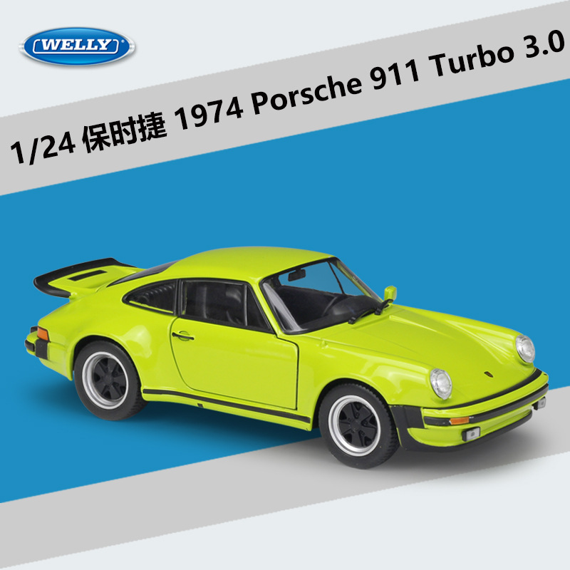 Welly 1:24 1974 Porsche 911 Turbo3.0 Alloy Car Model Diecasts Toy Vehicles Collect Gifts Non-remote Control Type Transport Toy