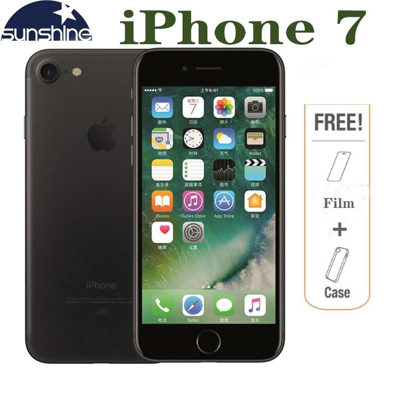 Original Desbloqueado Apple iPhone 7 4G LTE Mobile phone 2G RAM 256 GB/128 GB/32 GB ROM Quad Core 4.7 ''. 0 MP Câmera Do Telefone de Impressões Digitais