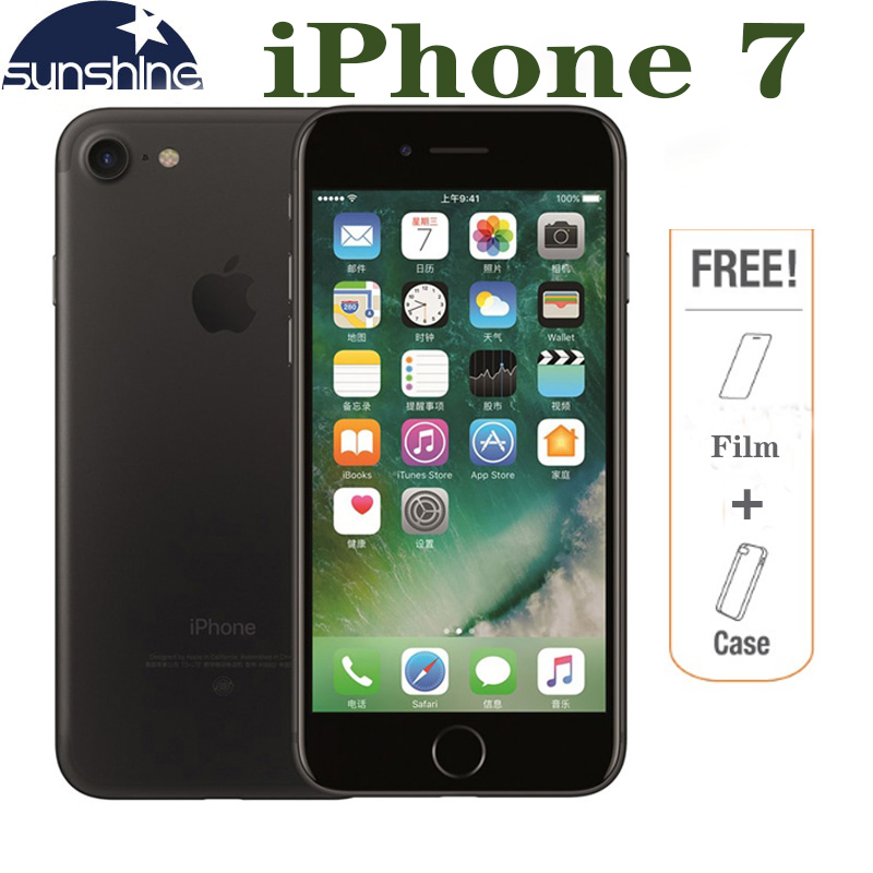 Original Desbloqueado Apple iPhone 7 4G LTE Mobile phone 2G RAM 256 GB/128 GB/32 GB ROM Quad Core 4.7 ''. 0 MP Câmera Do Telefone de Impressões Digitais