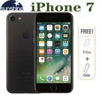 Téléphone portable d'origine débloqué Apple iPhone 7 4G LTE 2G RAM 256 GB/128 GB/32 GB ROM Quad Core 4.7 ''12. 0 MP téléphone avec caméra d'empreintes digitales