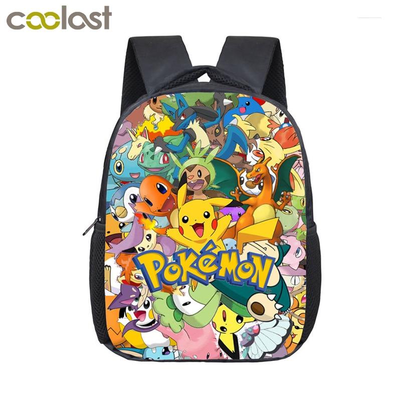 Anime Pokemon Backpack Pocket Monster School Bag Ash Ketchum/Pikachu School Backpacks Girls Boys Toddler Bag Kids Book Bags