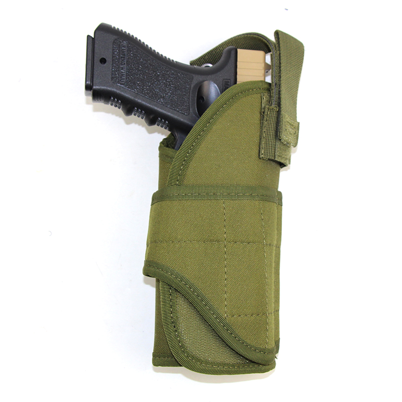 Tactical <font><b>Molle</b></font> Nylon Gun <font><b>Holster</b></font> For Glock 17 19 Beretta M9 Colt <font><b>1911</b></font> HK USP Airsoft Adjustable Waist Belt Gun Pouch Modular Bag image