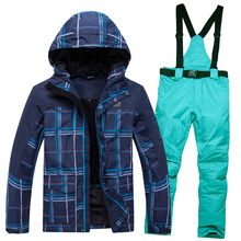Pants Snowboard-Jacket Ski-Suit Outdoor Waterproof Warm And Winter Men Sports Hot