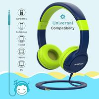 Ausdom K1 Wired Kids Headphones With 3.5mm Audio 85db Child Safe Volume Hearing Protection Gift for Children For iPod