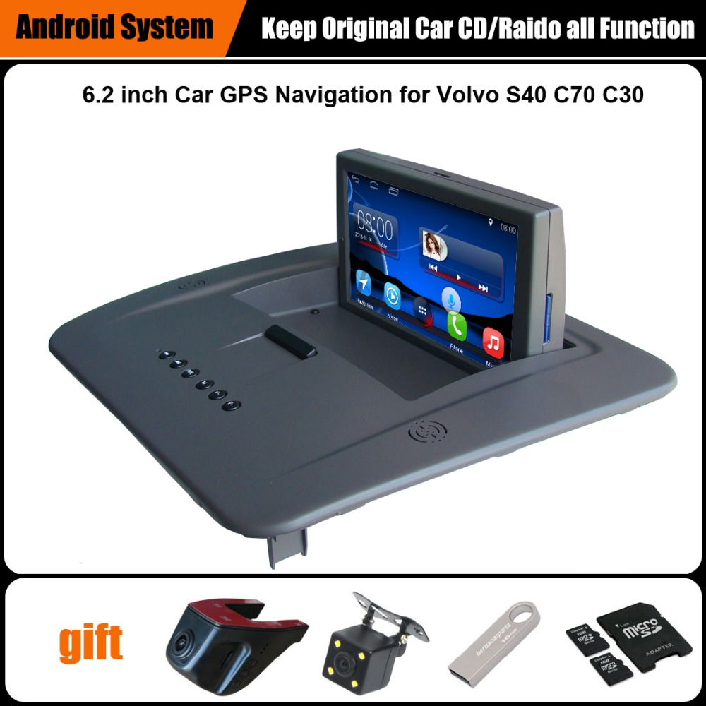 6.2 inch Android 7.1 Touch Screen Car Video Player for <font><b>Volvo</b></font> <font><b>S40</b></font> C30 C70 GPS Navigation with Vhicle DVR Rearview camera image