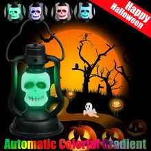 Halloween Lighting Flash Light Scary Night Skull Light Bedroom Luminous lamp For Home Night Light Light Lamp Home Decoration(China)