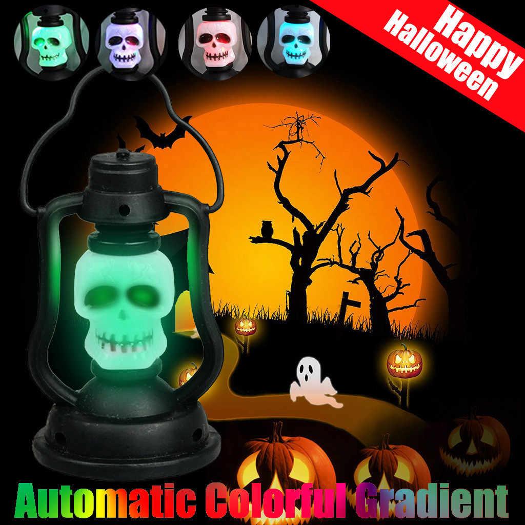 Iluminación de Halloween luz de Flash de noche de miedo calavera Luz de dormitorio lámpara luminosa para el hogar lámpara de luz de noche decoración del hogar