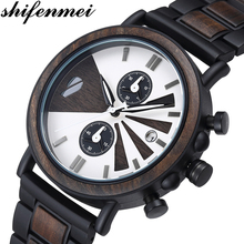 Shifenmei Wood Men Watches 2020 Luxury Brand Quartz Wristwatch Men's Sport Watch for Men Wooden Watch Male Relogio Masculino relogio masculino wood watches couro wooden watch quartz men s wristwatch wood watches for men fashionable casual