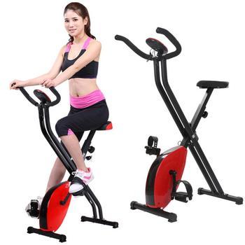 Rower treningowy typu X Indoor Cycling Sport Bike hamulec sieciowy z 8 poziomami oporu z wyświetlaczem LCD składany rower rowerowy Fitness tanie i dobre opinie X type