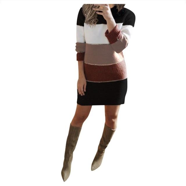 Striped Sweater Day Dress 5