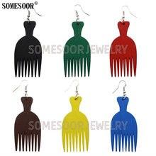 Somesoor ювелирные изделия 7 цветов африканская деревянная расческа