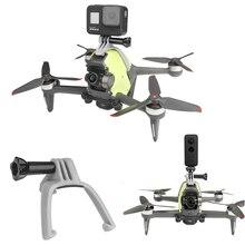 カメラトップブラケットのgoproスポーツアクションカメラアダプタトーチマウントクランプホルダー修正拡張キット懐中電灯dji fpvアクセサリー