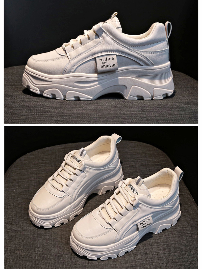 Autumn New Korean Style Women Shoes Casual Platform Solid Color Sneakers Women Casual Shoes Sneakers Zapatos De Mujer VT762 (16)