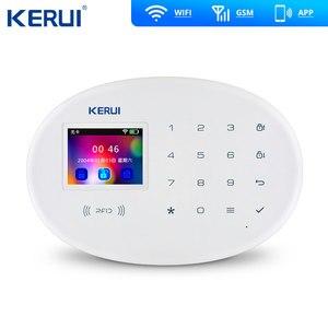 Image 2 - KERUI W20 WIFI GSM inteligentny system alarmowy do domu wykrywacz ruchu 433MHz bezprzewodowy karta rfid pilot aplikacji sterowania alarm antywłamaniowy