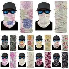 Пылезащитные шарфы цветные капли воды маленькие цветочные бесшовные