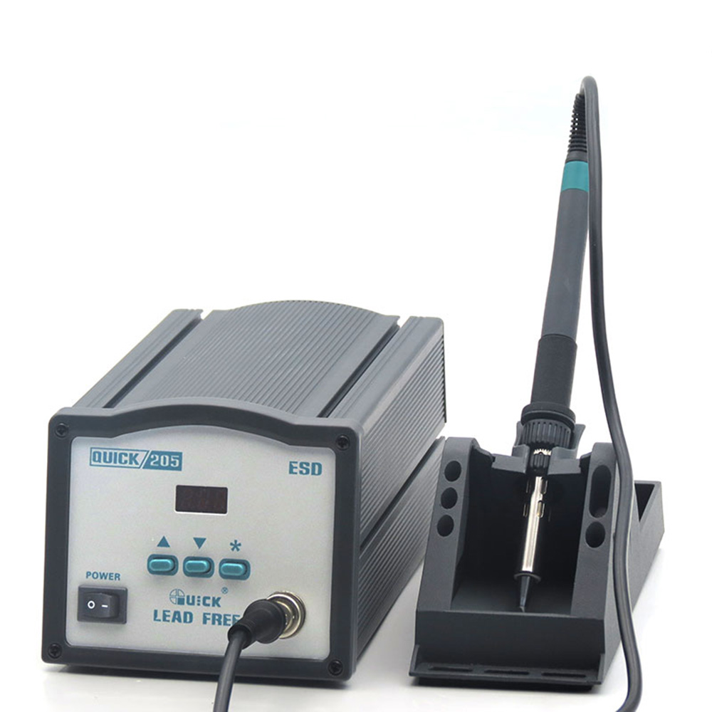 QUICK 205 150W High-Power Lead-Free Soldering Station Digital Display Thermostat Soldering  Rework Station Free Shipping