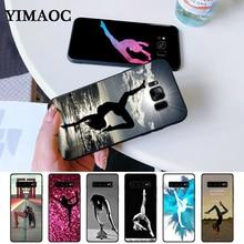 gymnastics silhouette Silicone Case for Samsung S6 Edge S7 S8 Plus S9 S10 S10e Note 8 9 10 M10 M20 M30 стоимость