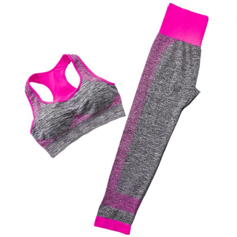 Yoga Set Sports Bra And Leggings Women Gym Set Clothes Backless Workout Fitness Sportswear Sports 2 Piece Set Women Suit  FG
