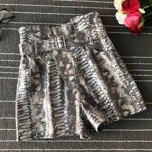 Женские шорты высокого качества с высокой талией из натуральной
