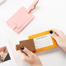 Suitcase PU Leather Creative Eiffel Tower Luggage Tag Label Bag Pendant Handbag Travel Accessories Name ID Address Tags(China)