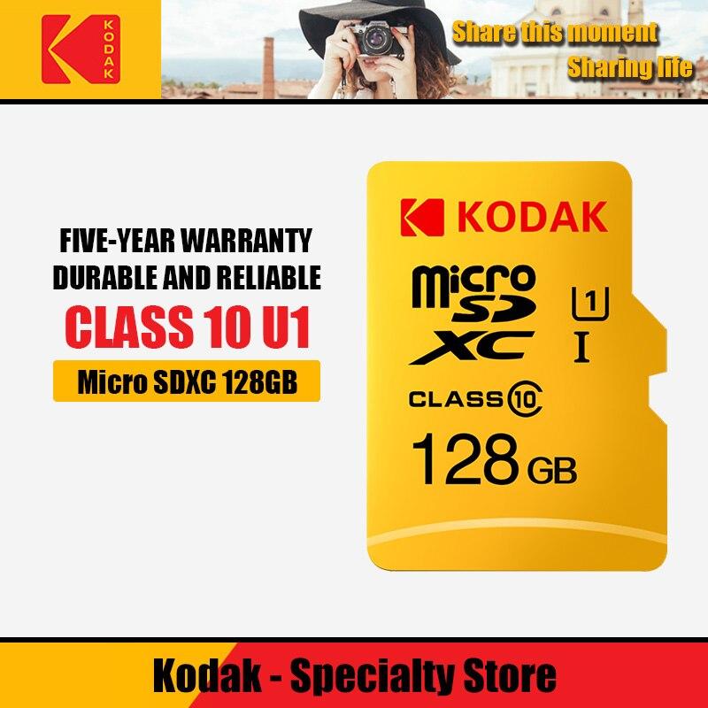 Kodak 16GB TF de Alta Velocidade/class10 cartão Micro SD GB cartao de memoria 32 U1 mecard 64GB Cartão de Memória Flash de 128GB Micro sd kart