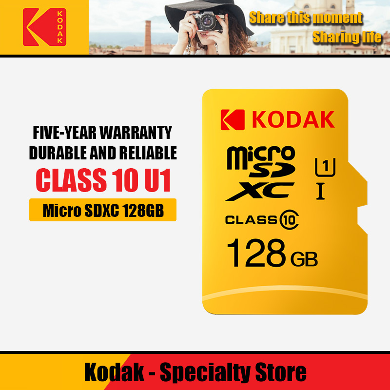 Kodak High Speed 16 Gb Tf/Micro Sd-kaart 32 Gb Cartao De Memoria Class10 U1 64 Gb Flash geheugenkaart Mecard 128 Gb Micro Sd Kart
