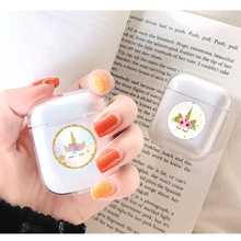 Soft Silicone Cute Air Pods Case For Apple airpods Case Luxury Cartoon Unicorn Transparent Airpods Case in Earphone Accessories 3d lucky rat cartoon bluetooth earphone case for airpods pro cute accessories protective cover for apple air pods 3 silicone