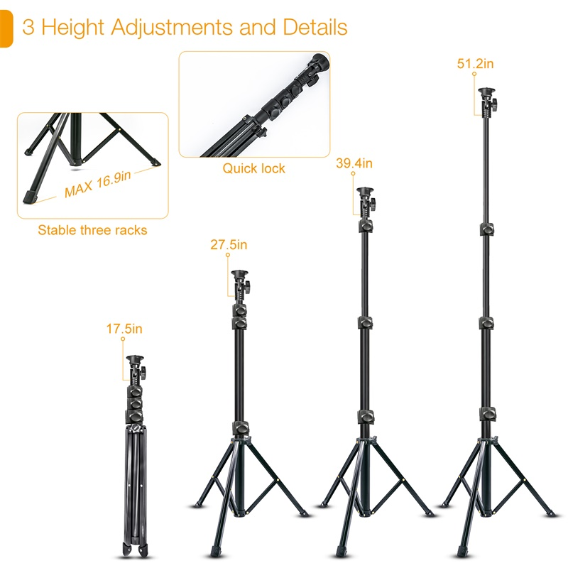 LED-Video-Ringlicht mit 51-Zoll-Stativständer Telefonhalter - Kamera und Foto - Foto 5