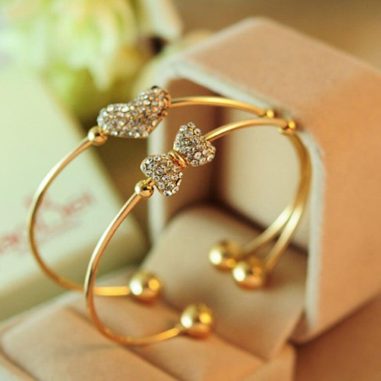 Crystal Love Bow Open Charm...