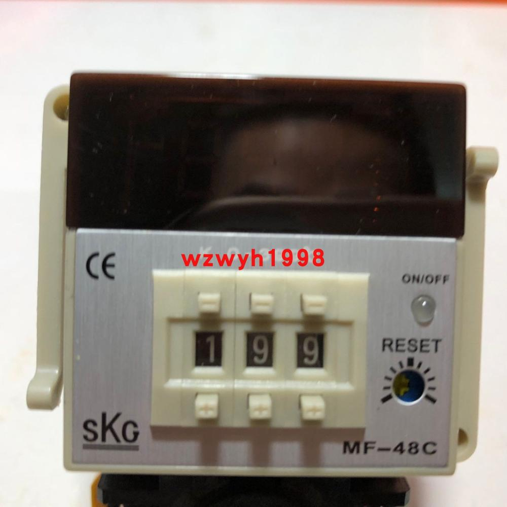 Taiwan SKG Dial Code Digital Temperature Controller SKG MF-48C Socket Temperature Controller K 0-999 ℃ 0-399 ℃ PT100
