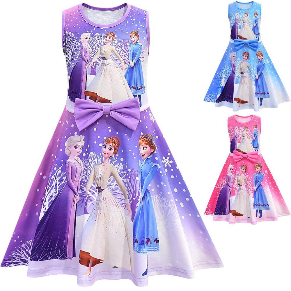 Fashion 2020 Girls Dresses For Anna Elsa Princess Kids Dress Children Snow Queen Girl Birthday Party Vestidos Baby Dress 1
